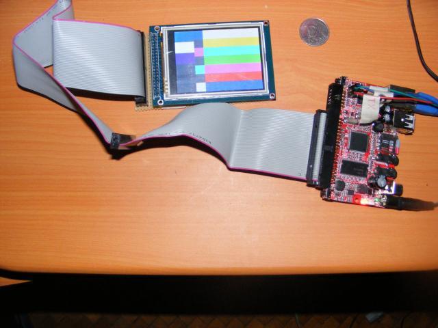 iMX233-OLinuXino-Maxi és SSD1289 LCD