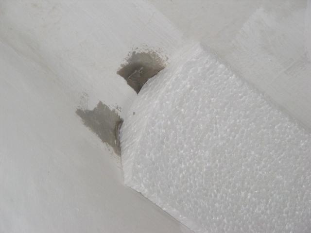 Polisztirolból (EPS) készült sarokelem körelről