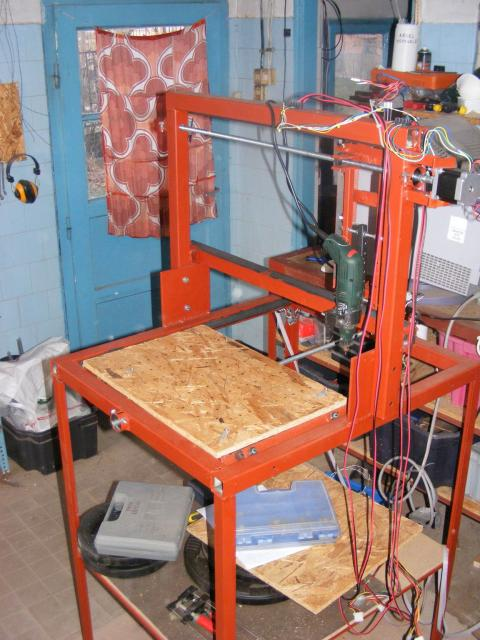 Lefestett CNC marógép