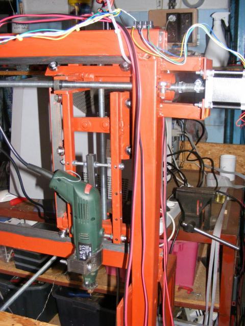 CNC marómotor és az X tengely motorja