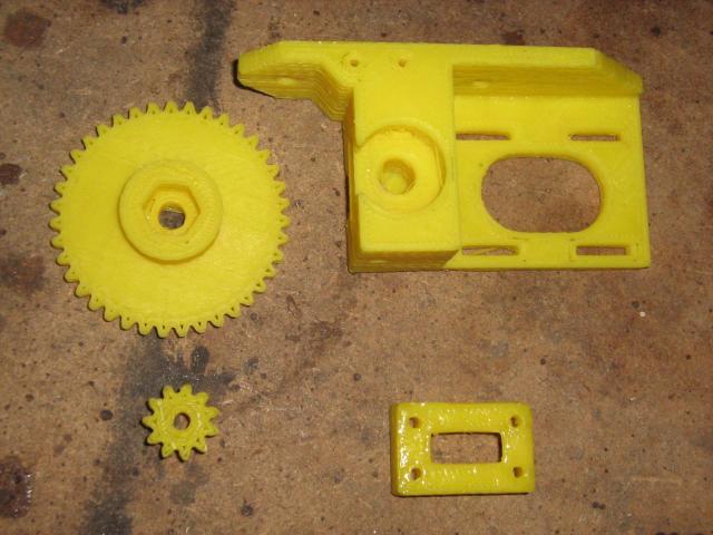 3D nyomtatófej műanyag alkatrészei