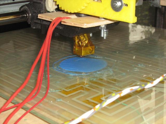 3D nyomtató működés közben