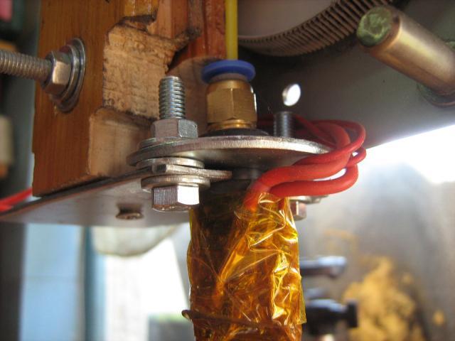 3D nyomtatófej, J-head beszerelve