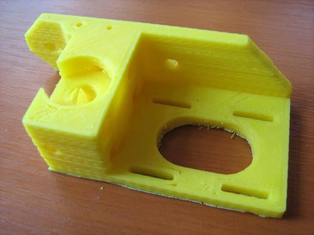 Kész munkadarab (Wade típusú 3D nyomtatófej alkatrész)