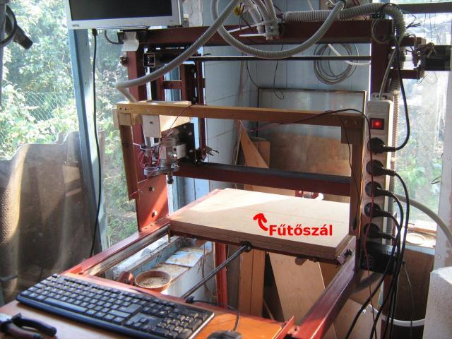 CNC gép átalakítva habvágóvá