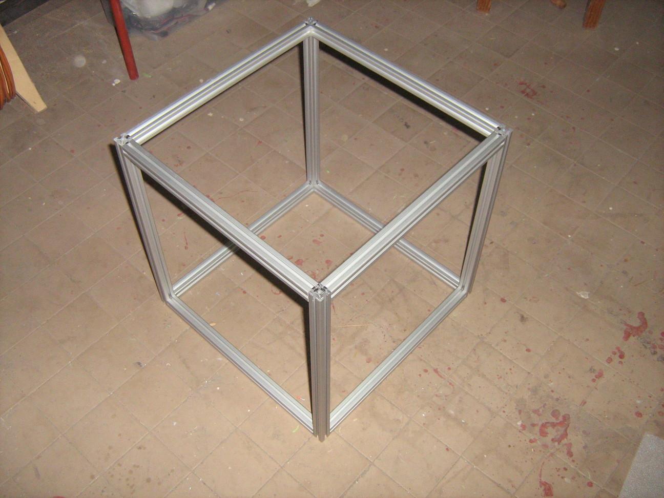 400x400x400-as kocka item aluprofilokból