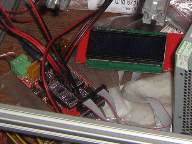 Az Arduino és RAMPS vezérlő, LCD