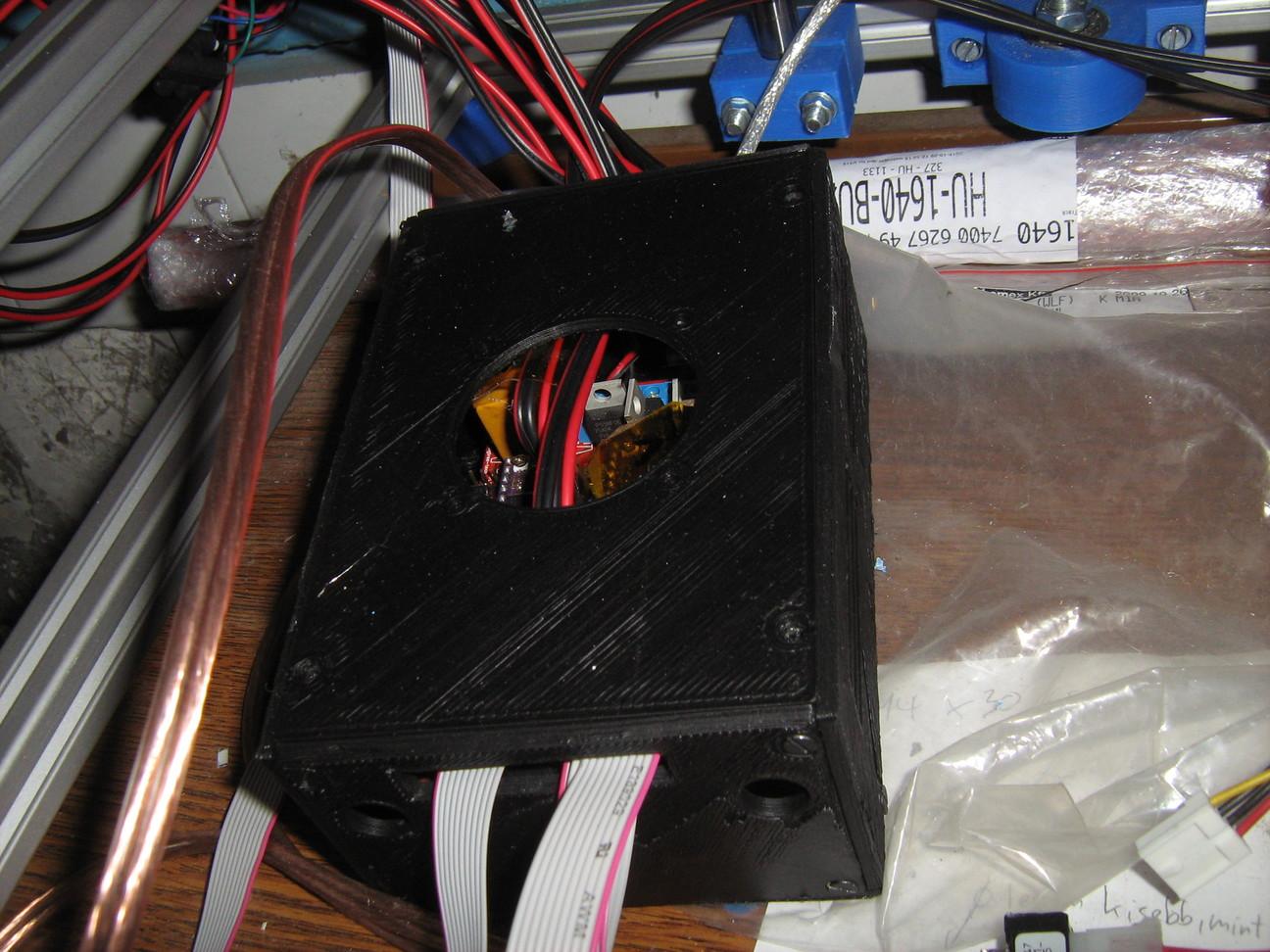 Az Arduino és RAMPS vezérlő bedobozolva