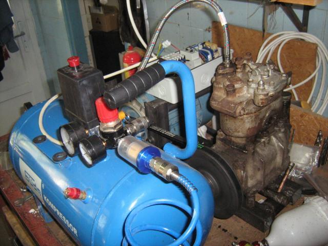 Kompresszor és tartály tesztelés