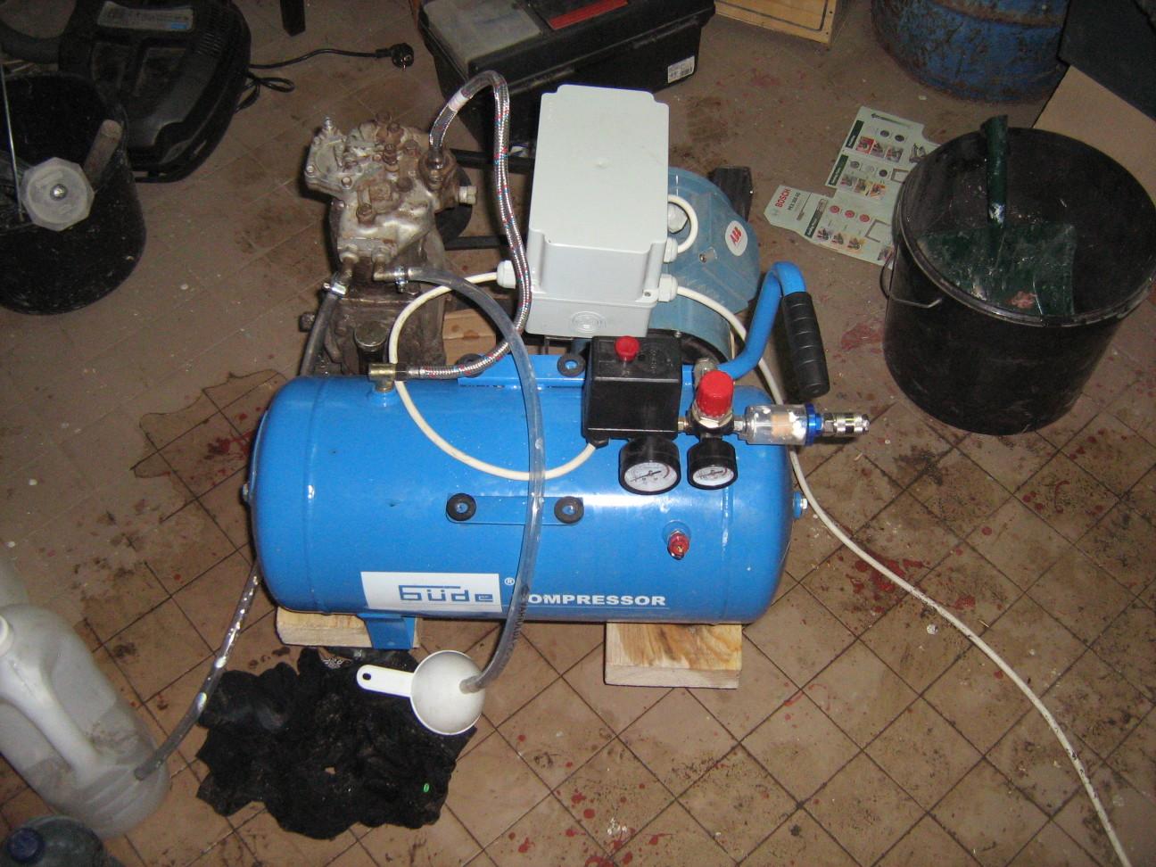 Kompresszor vízhűtés próba