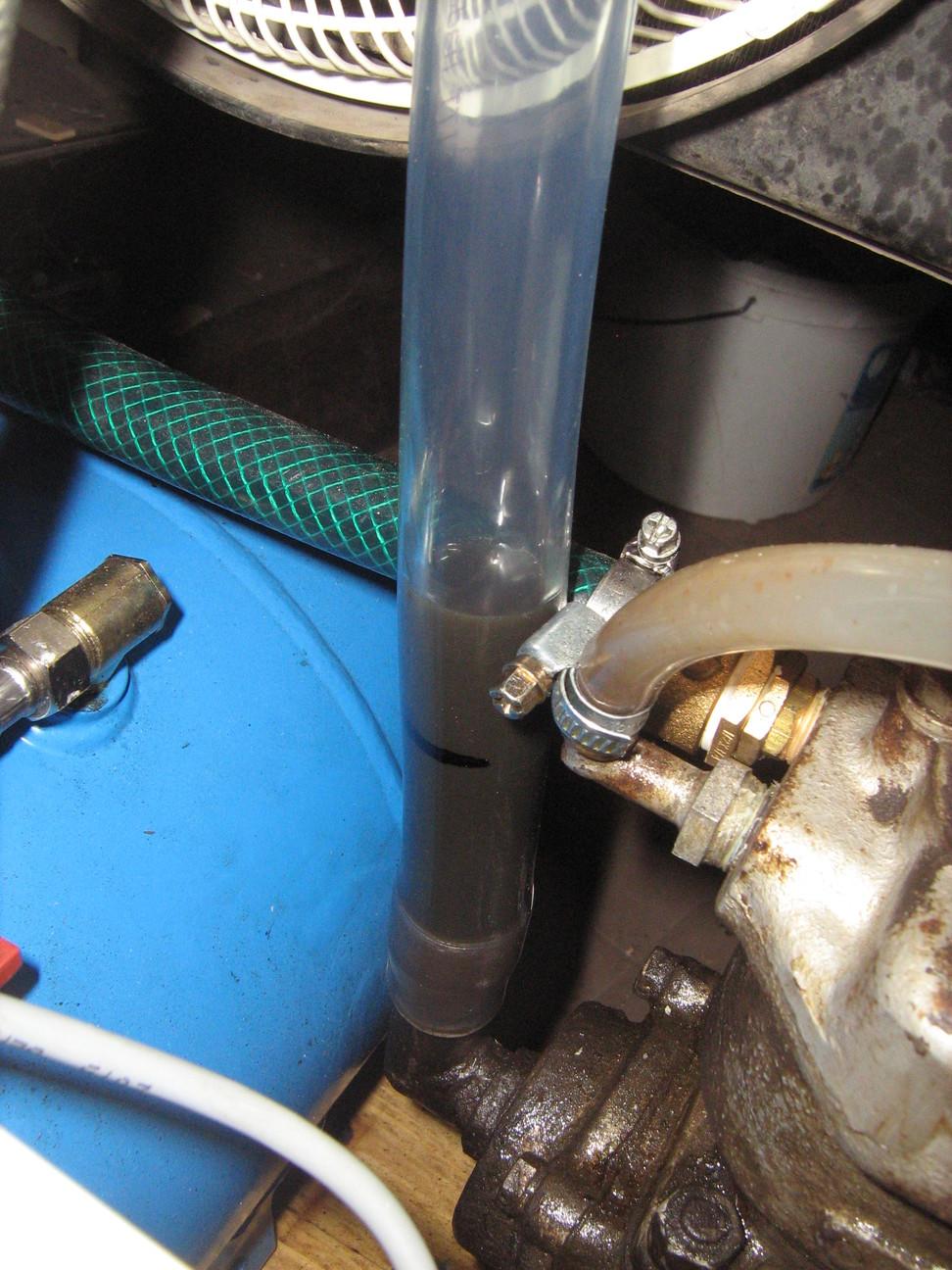 Kompresszor olajszint