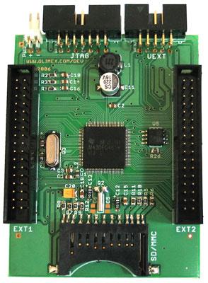 MSP430-4619LCD alsó oldal