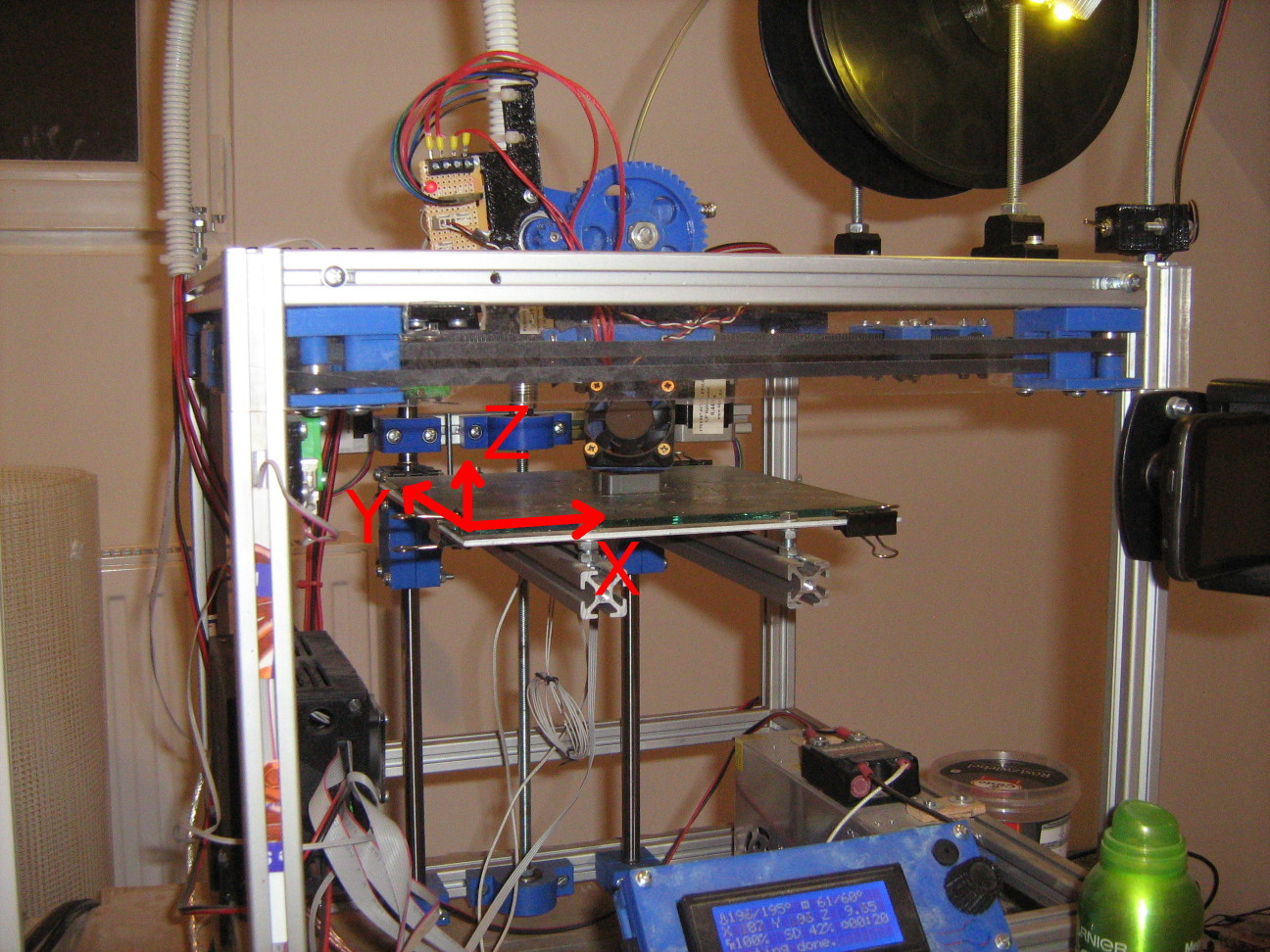 3D nyomtató koordináta rendszere