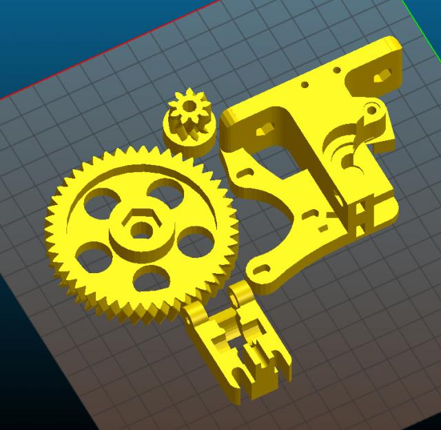 3D nyomtatófej alkatrészei