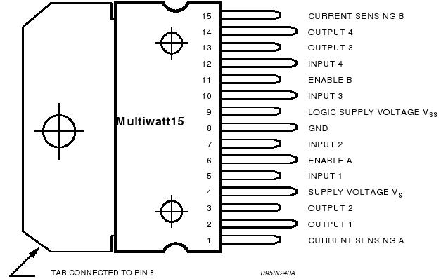 L298 lábkiosztás
